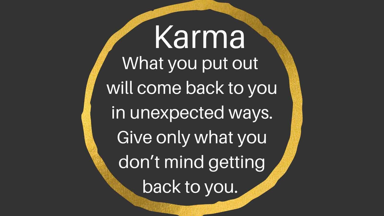 Karma Log in